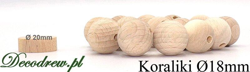 korale drewniane kolorowe