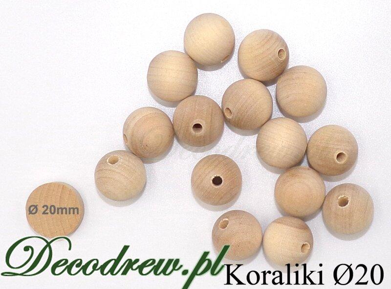drewniane kulki na korale