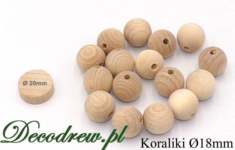 drewniane kulki dla dzieci