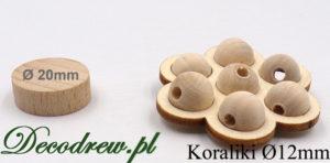 Surowe 12mm nie malowane korale drewniane producent