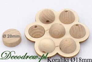 Małe kulki drewniane producent galanteri drewnainej decodrew.