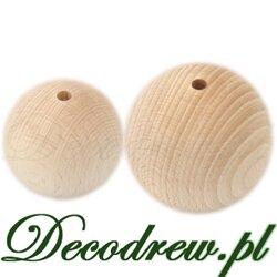 Bardzo duze toczone koraliki drewnaine średnicy 40mm i 50mm