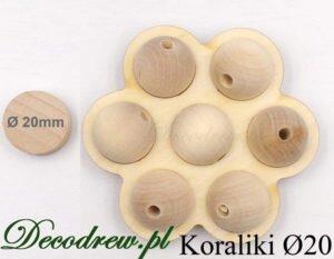 Komponenty na drewniane kulki zapachowe, kulki drewniane o średnicy 20mm