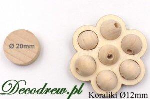 Drewniane kulki o średnicy 12mm