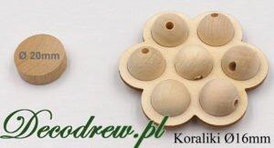 16mm koraliki drewniane sklep, sprzedaż wysyłkowa hurtowa i detaliczna.