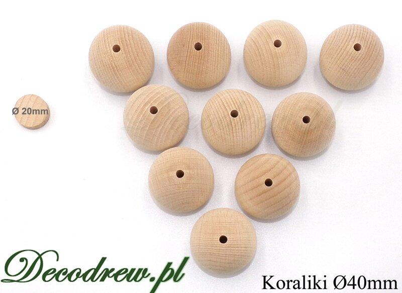 drewniane koraliki hurt