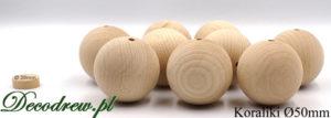 Produkcja i sprzedaż koraliki drewniane do wyrobu biżuterii DIY. Największe koraliki dostępne w ofercie 50mm średnicy.