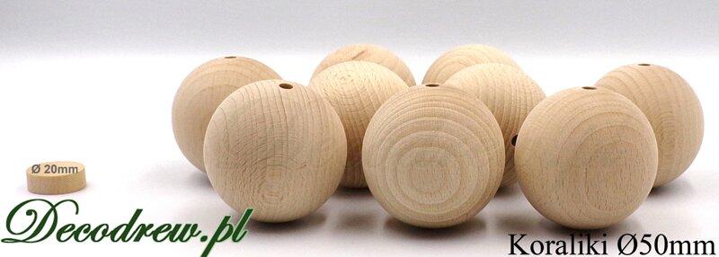 koraliki drewniane do wyrobu biżuterii