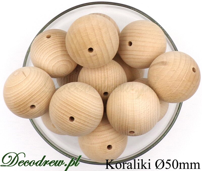 drewniane koraliki naturalne