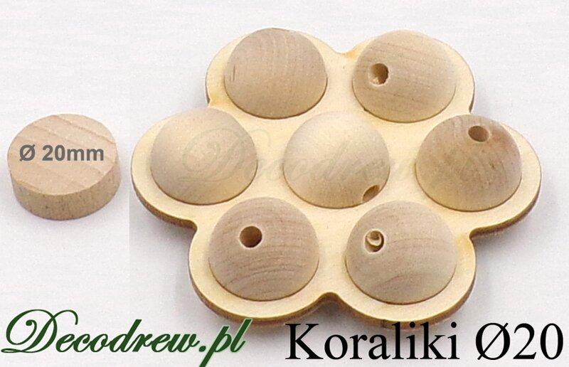 drewniane kulki do decoupage