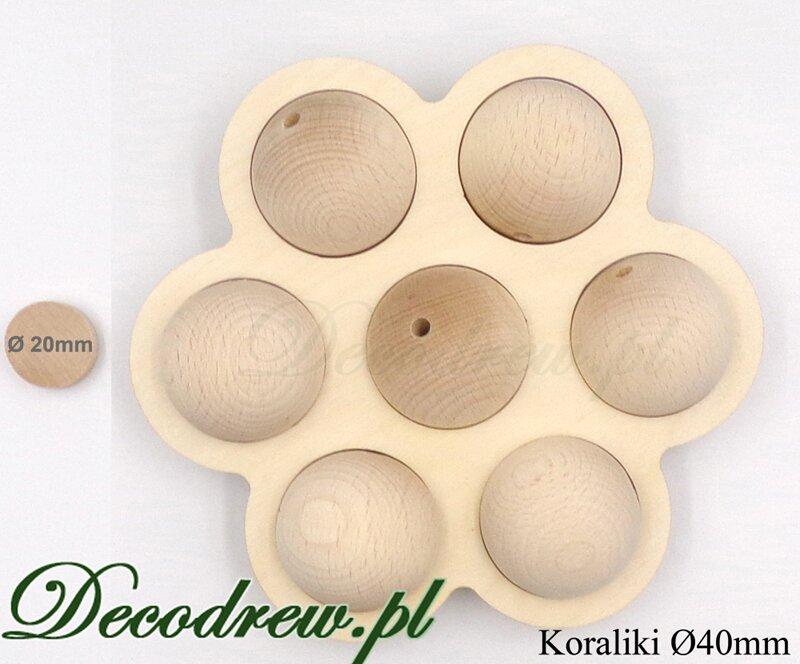 drewniane koraliki