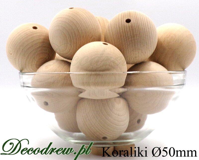 zestaw koralików drewnianych