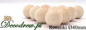 Rozsypane 40mm duże kulki drewniane surowe producent galanteri drewnianej. Tokarstwo w drewnie, produkcja seryjna kulek i tralek.