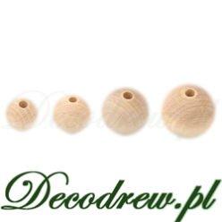 Koraliki drewniane małe do wykonywania ozdób. Kulki na korale 20mm 18mm 16mm 14mm decodrew