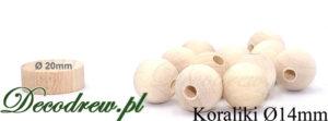 Produkcja sprzedaż koraliki drewniane hurt. Średnica koralika 14mm otwór: przelotowy.