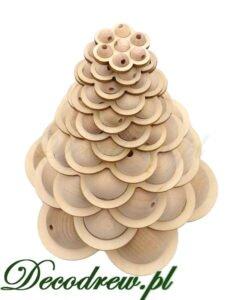 Ozdoba z kulek toczonych drewniana choinka.