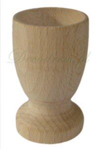 Kieliszek drewniany pod jajko duży